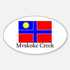 Mvskoke Creek Oval Decal
