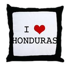 I Heart HONDURAS Throw Pillow