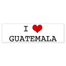 I Heart GUATEMALA Bumper Car Sticker