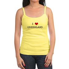 I Heart GREENLAND Jr.Spaghetti Strap