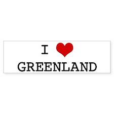 I Heart GREENLAND Bumper Bumper Sticker