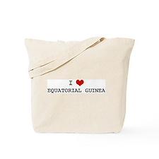 I Heart EQUATORIAL GUINEA Tote Bag