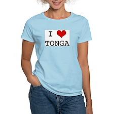I Heart TONGA Women's Pink T-Shirt