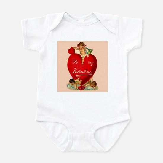 Victorian Valentine Heart Infant Bodysuit