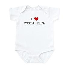 I Heart COSTA RICA Infant Bodysuit