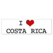 I Heart COSTA RICA Bumper Bumper Sticker