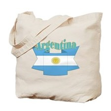 Argentina's flag ribbon Tote Bag