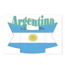 Argentina's flag ribbon Postcards (Package of 8)