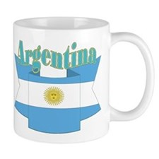 Argentina's flag ribbon Mug