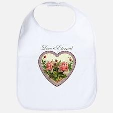 Love is Eternal - Roses Heart Bib
