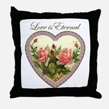 Love is Eternal - Roses Heart Throw Pillow