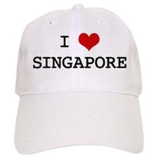 I Heart SINGAPORE Baseball Cap