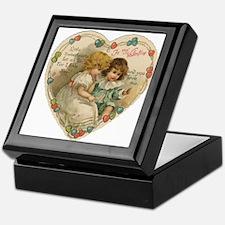 Little Valentine Sweethearts - Vintage Tile Box