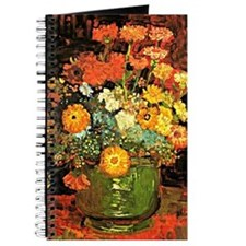 Van Gogh - Vase with Zinnias and Other Flo Journal