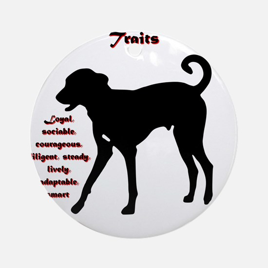 Year of the Dog - Traits Round Ornament