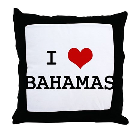 I Heart BAHAMAS Throw Pillow