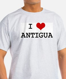 I Heart ANTIGUA Ash Grey T-Shirt