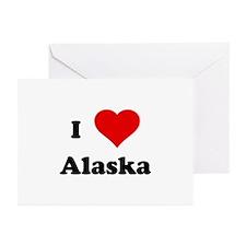 I Love Alaska Greeting Cards (Pk of 10)