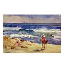 Sorolla - Boy on the Sand Postcards (Package of 8)