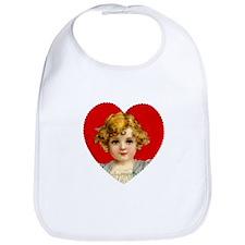 Victorain Valentine Girl Bib