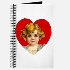 Victorain Valentine Girl Journal