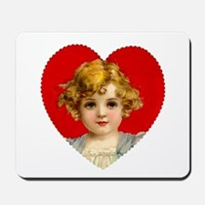 Victorain Valentine Girl Mousepad