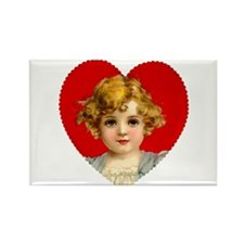 Victorain Valentine Girl Rectangle Magnet