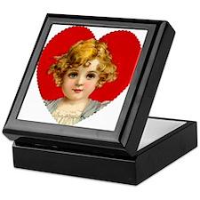 Victorain Valentine Girl Keepsake Box