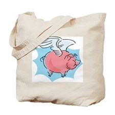 Cute Flying Pig Tote Bag