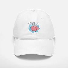 Cute Flying Pig Baseball Baseball Cap
