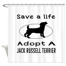 Adopt A Jack Russell Terrier Dog Shower Curtain