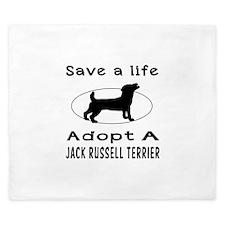 Adopt A Jack Russell Terrier Dog King Duvet