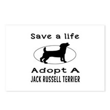 Adopt A Jack Russell Terrier Dog Postcards (Packag