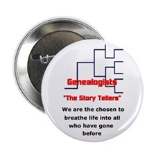"Genealogy Story Tellers 2.25"" Button"