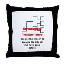 Genealogy Story Tellers Throw Pillow