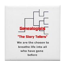 Genealogy Story Tellers Tile Coaster