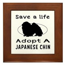Adopt A Japanese Chin Dog Framed Tile