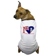 I love Falkland Islands flag Dog T-Shirt