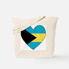 Bahamian Flag Heart Tote Bag