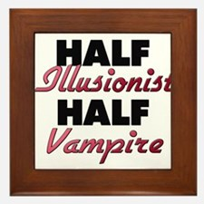 Half Illusionist Half Vampire Framed Tile