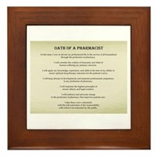 Pharmacist Oath Framed Tile
