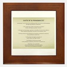 Pharmacist Oath Framed Tile