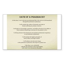 Pharmacist Oath Rectangle Decal