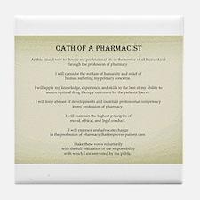 Pharmacist Oath Tile Coaster