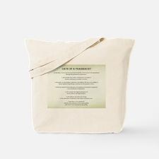 Pharmacist Oath Tote Bag