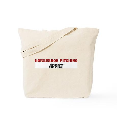 Horseshoe Pitching Addict Tote Bag