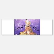 Adopt a wolf and wolf howling Bumper Bumper Bumper Sticker
