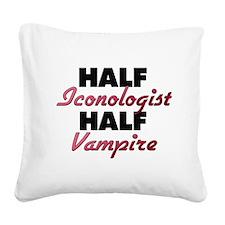 Half Iconologist Half Vampire Square Canvas Pillow