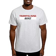 Trampolining Addict Ash Grey T-Shirt