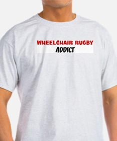 Wheelchair Rugby Addict Ash Grey T-Shirt